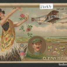 Postales: BIPLANO - AVIADOR GLENN H. CURTISS - P27087. Lote 139828346
