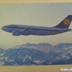Postales: POSTAL DEL AVION AIRBUS A 310 DE LA LUFTHANSA. Lote 140412910