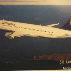 Postales: POSTAL LUFTHANSA .-AVION AIRBUS A 320-200. Lote 140450218