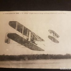 Postales: POSTAL AVIACION EL AVIADOR WRIGHT EN PLENO VUELO. Lote 140592498