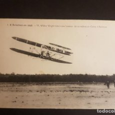 Postales: POSTAL AVIACION EL AVIADOR WRIGHT EN PLENO VUELO 1908. Lote 140592714