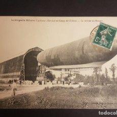 Postales: POSTAL AVIACION DIRIGIBLE EN CAMPO DE AEROSTACION. Lote 140593738