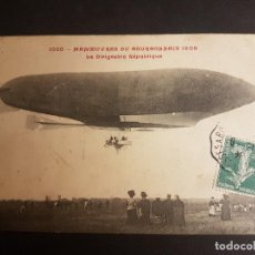 Postales: POSTAL AVIACION EL DIRIGIBLE REPUBLIQUE. Lote 140593802