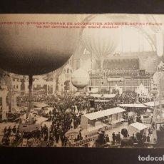 Postales: POSTAL AVIACION EXPOSICION INTERNACIONAL DE LOCOMOCION AEREA GRAND PALAIS DE PARIS 1909. Lote 140593934