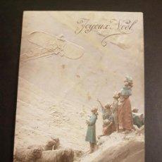 Postales: CAMPESINOS Y AVION POSTAL 1912. Lote 140598922