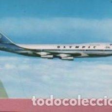 Postales: POSTAL DEL AVIÓN DE OLYMPIC AIRWAYS - BOEING 747-200B JUMBO JET. Lote 142991142