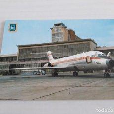 Postales: AVION AEROPUERTO BARAJAS. Lote 143280682