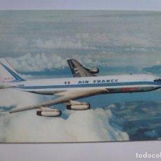 Postales: POSTAL. BOEING 707 INTERCONTINENTAL. AIR FRANCE. ED. I.V.O. PARIS-EVIAN. NO ESCRITA. . Lote 143375422