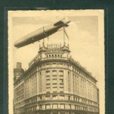 Postales: MADRID EL GRAF ZEPPELIN SOBRE HOTEL NACIONAL. Lote 144051962