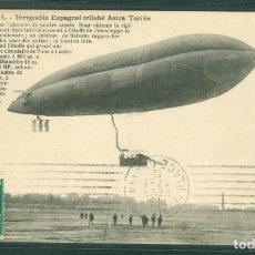 Postales: DIRIGIBLE ESPAÑOL ASTRA TORRES POSTAL CIRCULADA 1912. Lote 144143426