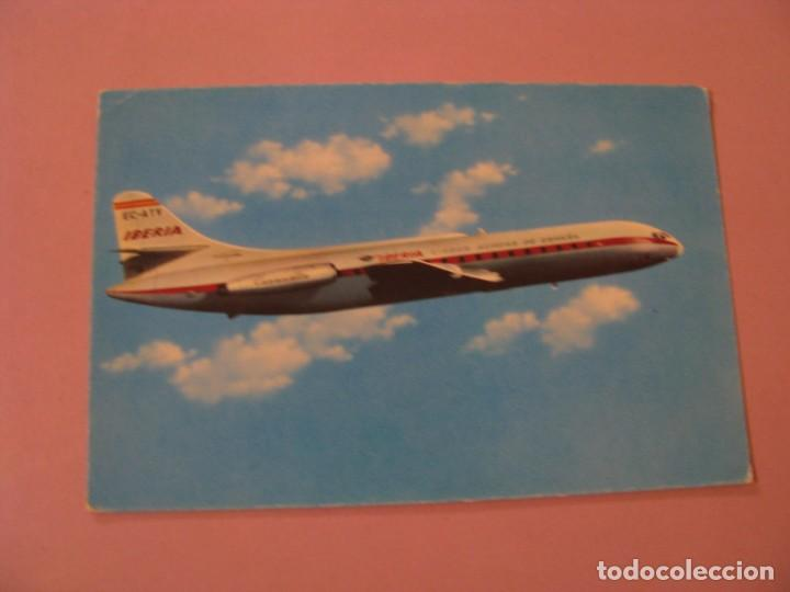 POSTAL DE AVIÓN DE IBERIA. CARAVELLE VI-R. ED. RIEUSSET. 1965. (Postales - Postales Temáticas - Aeroplanos, Zeppelines y Globos)