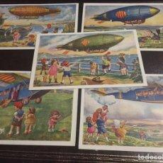 Postales: 5 POSTALES SERIE AVIACIO. EDICIONS CATALANES. Lote 147084997