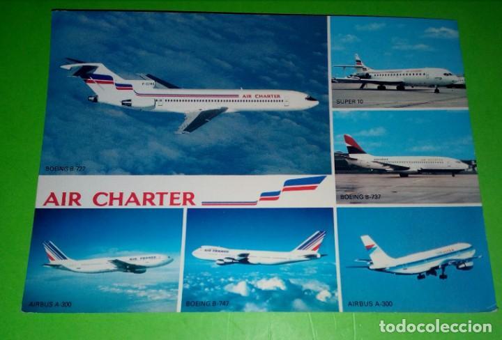 AIR CHARTER,AIR FRANCE (Postales - Postales Temáticas - Aeroplanos, Zeppelines y Globos)