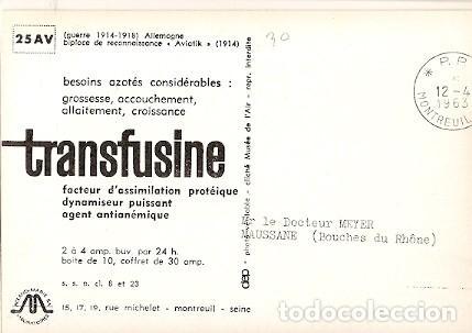 Postales: Francia & Dispositivo de Reconocimiento Alemán Aviatik, 1ª Guerra, Montreuil, Maussane 1963 (6682) - Foto 2 - 147350610