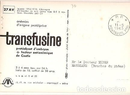 Postales: Francia & Circulado, Reconocimiento 1ª Guerra, Aviatik C-III Montreuil, Maussane 1963 (6687) - Foto 2 - 147389854