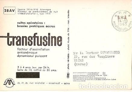 Postales: Francia & Circulado, Bombardeo Nocturno Friedrichshafen, Guerra 1914, Montreuil, Reims 1963 (6685) - Foto 2 - 147390490