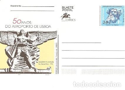 PORTUGAL ** & INTERO, CINCUENTA AÑOS DEL AEROPUERTO DE LISBOA 1992 (7771) (Postales - Postales Temáticas - Aeroplanos, Zeppelines y Globos)