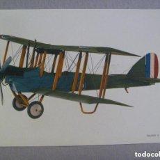 Postales: POSTAL CON DIBUJO DE UN AVION BIPLANO : TRAINER D. H. 6 ( 1917 ). Lote 147558834