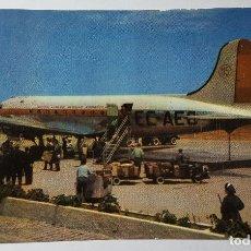 Postales: POSTAL DE AEROPUERTO DE GANDO LAS PALMAS DE GRAN CANARIA IBERIA - DOUGLAS DC-4. Lote 147569274