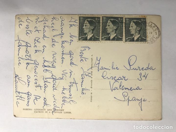 Postales: AVIONES. Postal. Sabena Compañía Belga ya desaparecida....Edita: Real Photograph (h.1950?) - Foto 2 - 147762217