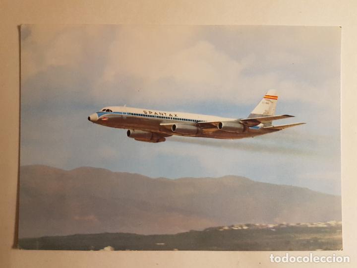 SPANTAX CONVAIR CV 990 A CORONADO (Postales - Postales Temáticas - Aeroplanos, Zeppelines y Globos)