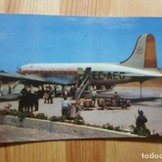 Postales: POSTAL DE AEROPUERTO DE GANDO LAS PALMAS DE GRAN CANARIA IBERIA - DOUGLAS DC-4. Lote 150123958