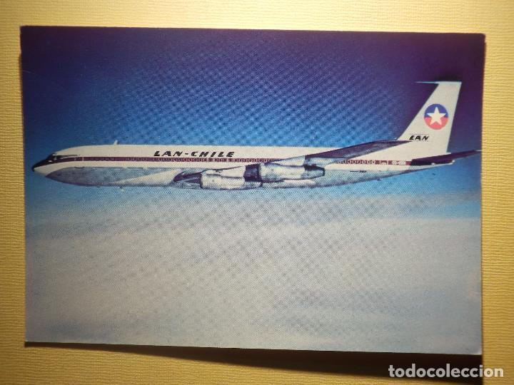 POSTAL - AVION BOING 707 - LAN CHILE - LA PRIMERA EN UNIR AUSTRALIA CON SUD AMERICA VIA EL POLO SUR (Postales - Postales Temáticas - Aeroplanos, Zeppelines y Globos)