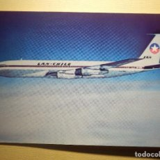Postales: POSTAL - AVION BOING 707 - LAN CHILE - LA PRIMERA EN UNIR AUSTRALIA CON SUD AMERICA VIA EL POLO SUR. Lote 151466266
