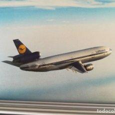 Postales: AVIACION AVION LUFTHANSA DC10. Lote 152436918