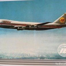 Postales: AVIACION AVION IBERIA BOEING 747 JET. Lote 152437210