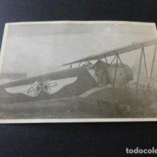 Postales: MADRID HACIA 1930 AVION DEL CLUB AEREO AERO POPULAR POSTAL FOTOGRAFICA. Lote 153783218