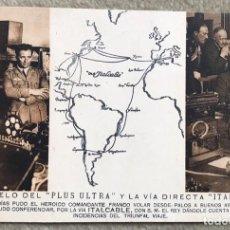Postales: POSTAL MALAGA - EL VUELO DEL PLUS ULTRA Y LA VÍA DIRECTA ITALCABLE (PALOS - BUENOS AIRES). Lote 154786034
