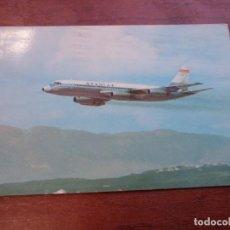Postales: SPANTAX CONVAIR CV 990 A CORONADO, ESCRITA Y CIRCULADA . Lote 155985846