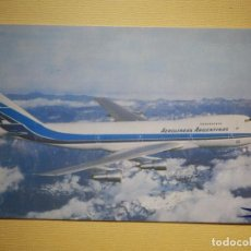 Postales: POSTAL - AEROLINEAS ARGENTINAS - JUMBO 747 - ESCRITA EN 1987. Lote 179388551