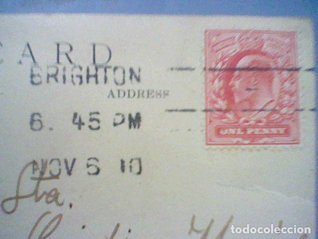 Postales: Zeppelin sobre Brighton fotografia postal 1910 circulada sello 1 penique - Foto 9 - 36860212