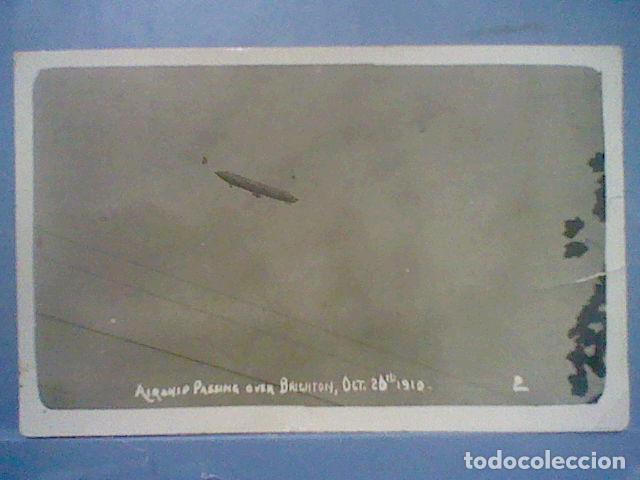 Postales: Zeppelin sobre Brighton fotografia postal 1910 circulada sello 1 penique - Foto 10 - 36860212