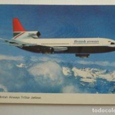 Postales: THE BRITISH AIRWAYS TRISTAR JETLINER.. Lote 157782866