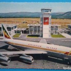 Postales: AVIÓN BOEING POSTAL AEROPUERTO ETIOPÍA CIRCA 1960. Lote 158923086