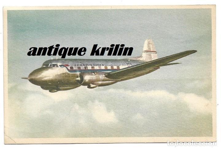 SCANDINAVIAN AIRLINES SYSTEM .- SAS .- SAAB (Postales - Postales Temáticas - Aeroplanos, Zeppelines y Globos)