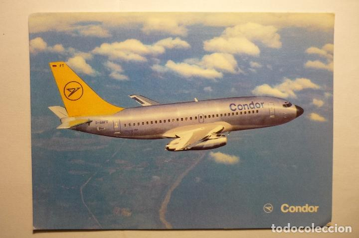 POSTAL AVION EUROPA JET-BOEING 737 230 (Postales - Postales Temáticas - Aeroplanos, Zeppelines y Globos)
