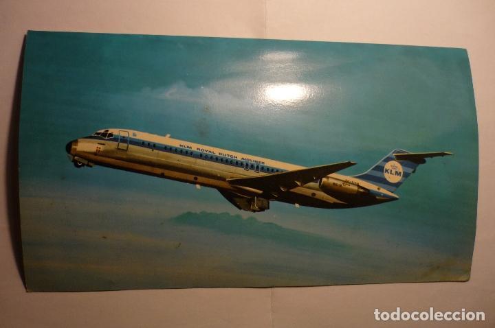 POSTAL AVIACION KLM -DOUGLAS DC 9-3 RC TAMAÑO 20 X 15 APRX. (Postales - Postales Temáticas - Aeroplanos, Zeppelines y Globos)