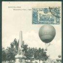 Postales: BARCELONA GLOBO AEROESTATICO RIUS Y TAULET. Lote 161252458