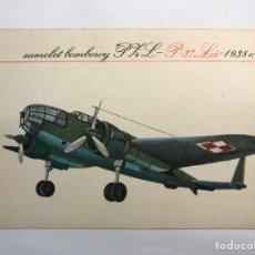 Postales: AVIONES. POSTAL, SAMOLOT BOMBOURY PHL P-37 (A.1938). Lote 165061537