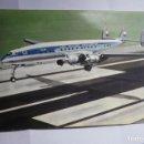 Postales: POSTAL 23 X 13 AVIACION CIA, KLM LOCKHEED L 1049 CONSTELLATION. Lote 165736398