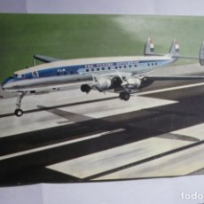 Postales: POSTAL 23 X 13 AVIACION CIA, KLM LOCKHEED L 1049 CONSTELLATION. Lote 165736398