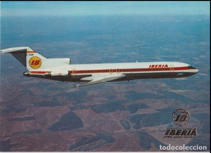 IBERIA - BOEING 727/256 - ESCUDO DE ORO - S/C (Postales - Postales Temáticas - Aeroplanos, Zeppelines y Globos)