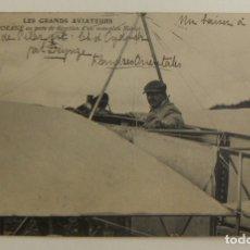 Postales: POSTAL PIONEROS DE LA AVIACION MORANE CON UN MONOPLANO BLERIOT ORIGINAL. Lote 166358502