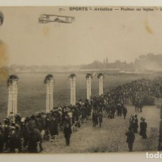 Postales: POSTAL PIONEROS DE LA AVIACION PAULHAN CON EL BIPLANO VOISIN ORIGINAL. Lote 166359042