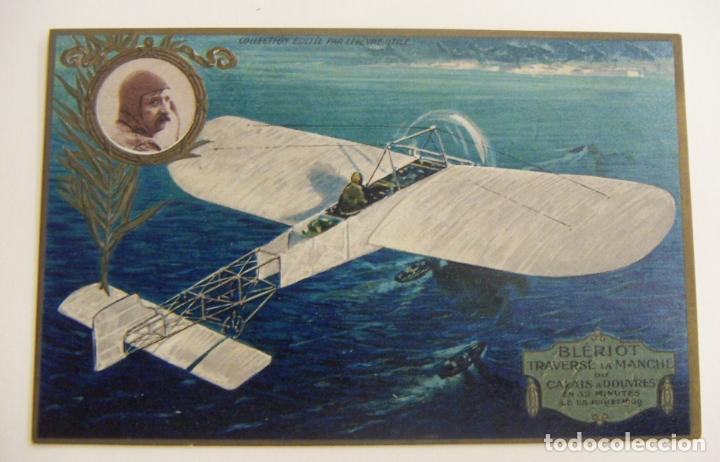 ASES DE LA AVIACIÓN LA TRAVESIA DE LA MANCHA EN 1909 PAR LOUIS BLÉRIOT ORIGINAL (Postales - Postales Temáticas - Aeroplanos, Zeppelines y Globos)
