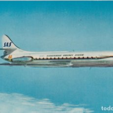 Postales: SAS SCANDINAVIAN AIRLINES SYSTEM - CARAVELLE JETLINE - LITHO IN NORWAY - S/C. Lote 166455138